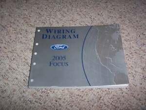 2005 Ford Focus Electrical Wiring Diagram Manual ZX3 ZX4 ZX5 ZXW 2.0L 2.3L  4Cyl | eBay