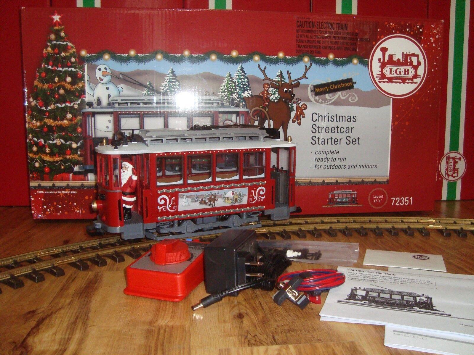 LGB 72351 Rojo Navidad Trolley Estrellater Set  completa & Nuevo en Caja Original