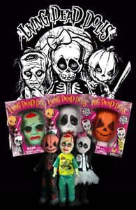 Living Dead Dolls Retro Halloween Sets. Mask With Shirt & Doll Lot 0f 3 2010,XL
