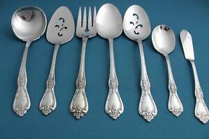 7pc-Serving-Tablespoon-Fork-Oneida-KENNETT-SQUARE-Distinction-Deluxe-Stainless