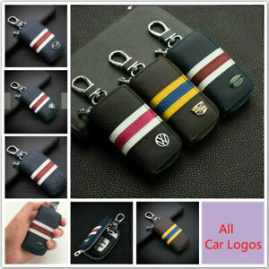 Fashion-Leather-Car-Key-Bag-Car-Remote-Key-Chain-Holder-Case-Bag-For-All-Cars