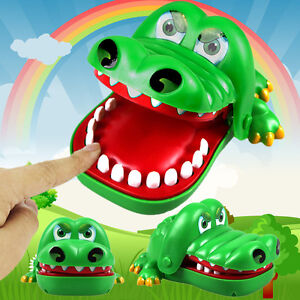 Large Crocodile Mouth Dentist Bite Finger Game Fun Playing Toy Kid Children <G