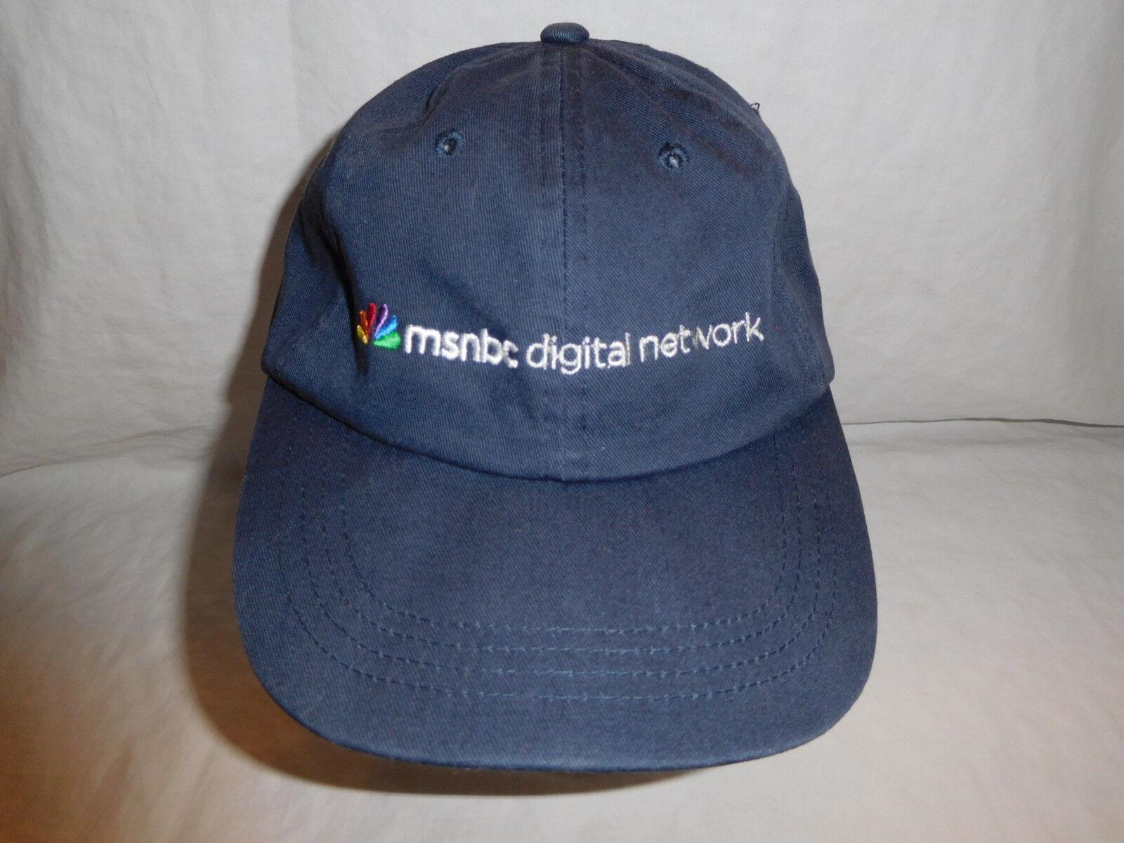 MSNBC Digital Network Baseball Peacock Cap Dad Hat Strapback Rainbow Peacock Baseball Logo bd6db0