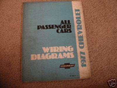 1977 Chevrolet Car Wiring Diagrams | eBay