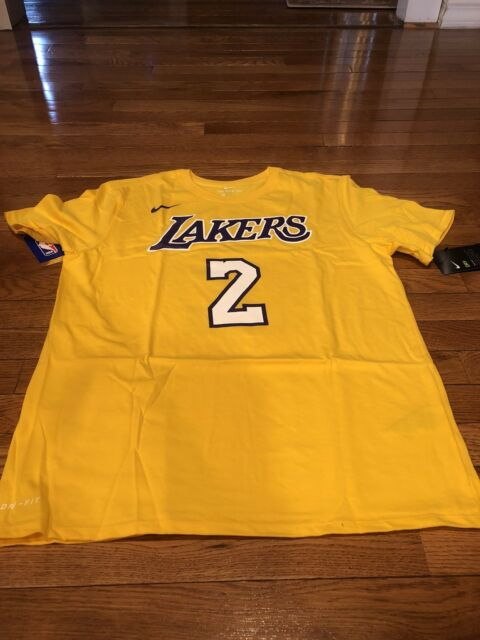 Mens Nike Los Angeles Lakers Basketball Shirt 870782 735 Yellow Sz L