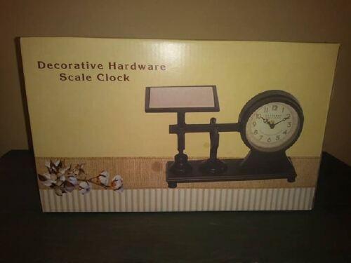Brand New In Box! Cracker Barrel Decorative Hardware Scale Clock
