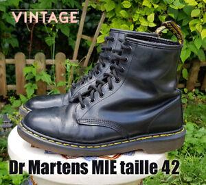 Docs Dr MARTENS taille 42 UK8 cuir noir 1460 smooth   eBay