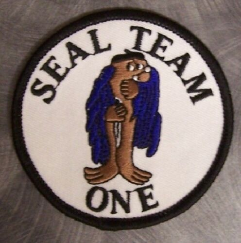 Embroidered Military Patch U S Navy SEAL Team One 1 NEW