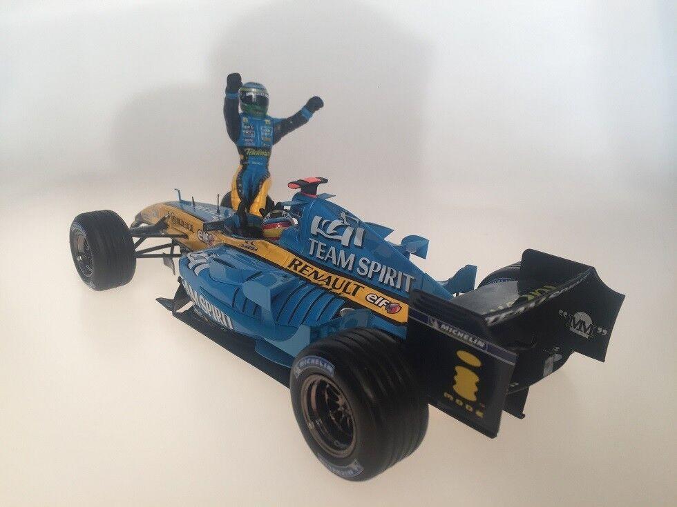 1 18 heiß Wheels Renault R25 Constructors Champion 2005 Alonso FIsichella