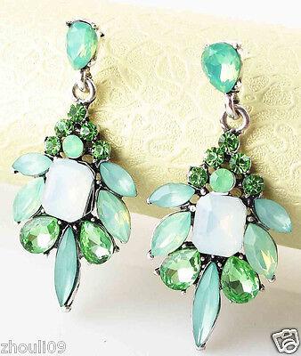 New Fashion Women Elegant Crystal Rhinestone Ear Stud silver dangle Earrings 463