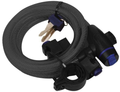 Oxford Vélo Cycle Bobine Spirale Câble Antivol 12 mm x 1.8 m 5 Couleurs Disponibles