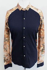Old-Flag-Dragon-Shirt-Navy-Mens-Size-XL-Box74-39-L