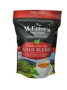 McEntee's Irish Loose Leaf Gold Blend Tea - 250g Pouch - Award winning Tea