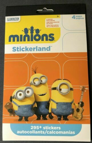 Minions 295 ct Stickers Illumination Entertainment Despicable Me Banana Movie