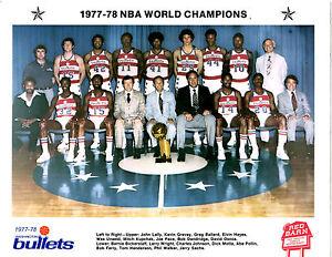 1977 1978 NBA CHAMPIONS WASHIN...