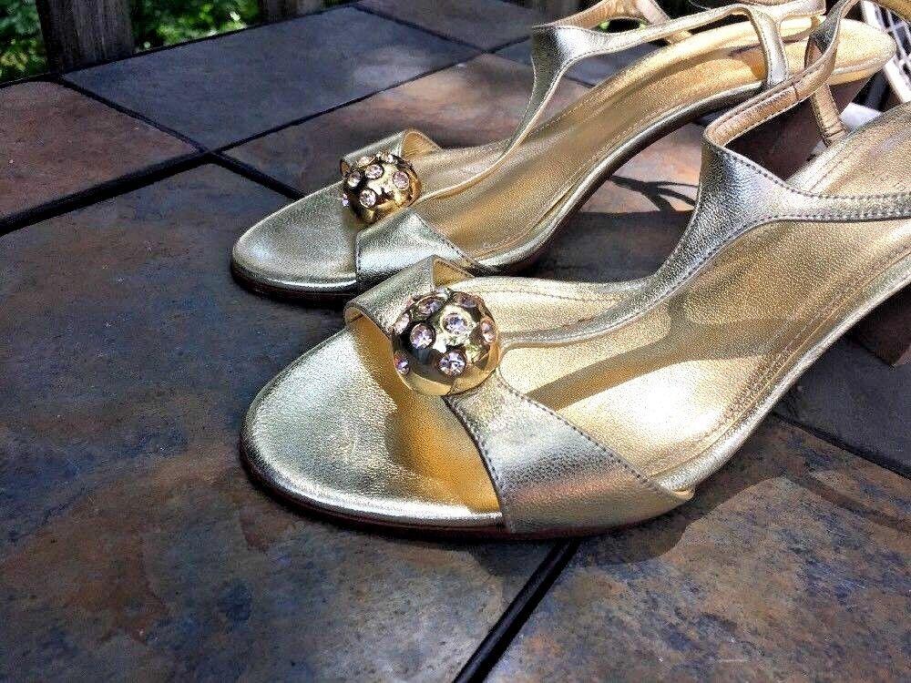 J crew de de de diamante de imitación de diamante y oro bola de discoteca Bombas Zapato de tacón alto mujer talla 7   tienda de venta
