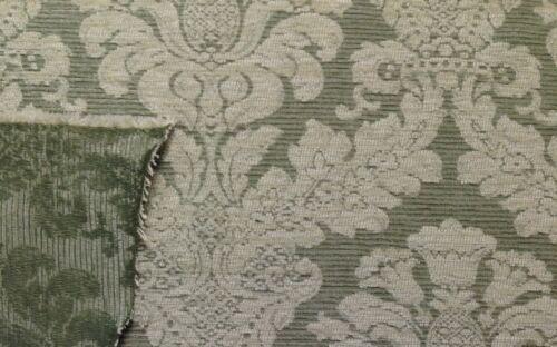 "P KAUFMANN CHENILLE DAMASK SAGE JACQUARD DESIGNER FABRIC BY THE YARD 54/""W"