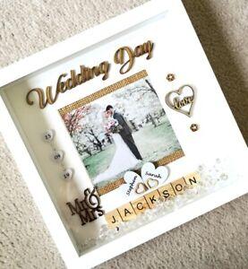 PERSONALISED-WEDDING-Gift-3D-Box-Frame-Home-Decor-Birthday-Anniversary
