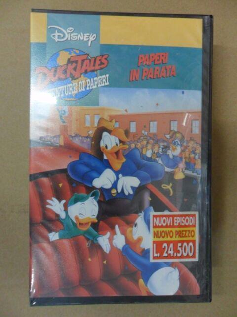 DUCK TALES PAPERI IN PARATA avventure di paperi  VHS  Disney NUOVA SIGILLATA