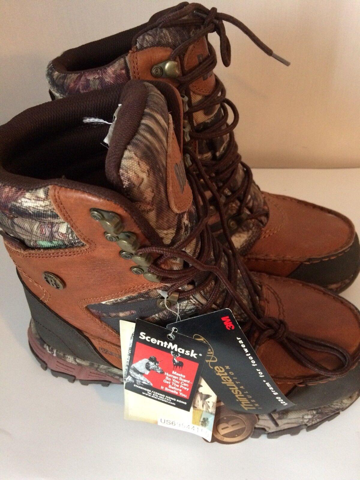 Mossy Oak Bushnell  Mens braun Waterproof ScentMask Stiefel Stiefel Stiefel Thinsulate NWT 8M 9becb8