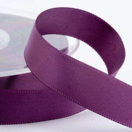 3m Cut Lengths Double Sided Satin Ribbon 3mm 6mm 10mm 16mm 25mm 38mm