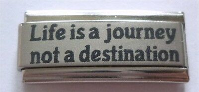9mm Italian Charms  Superlink L62 Life is a journey not a destination