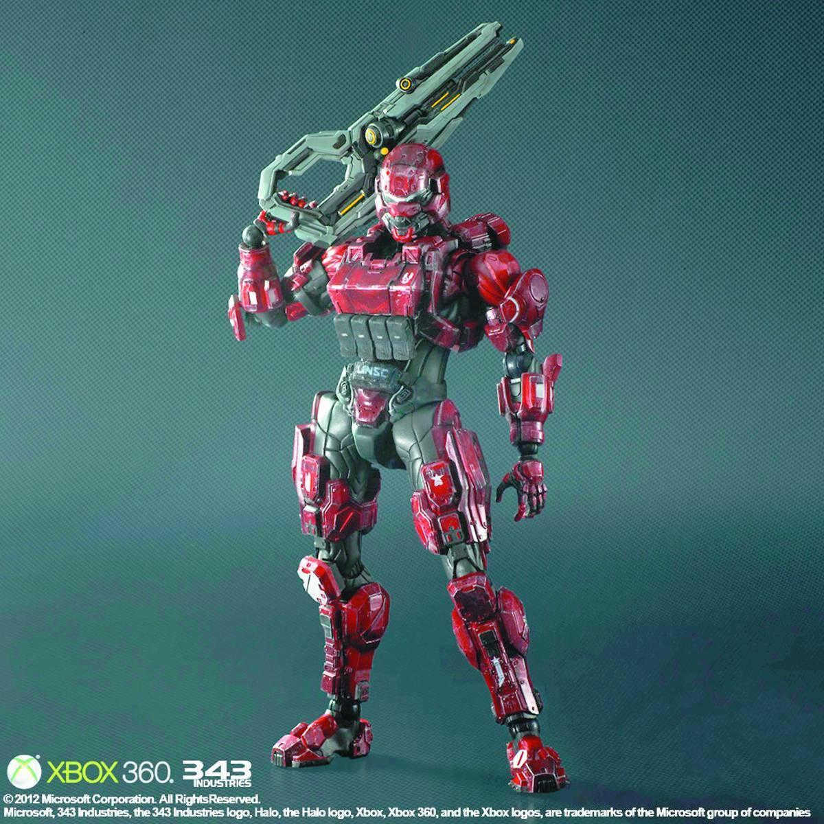 Square Enix Halo 4 Spartan Soldier Jugar Arts Kai Figura-Nuevo Sellado De Fábrica