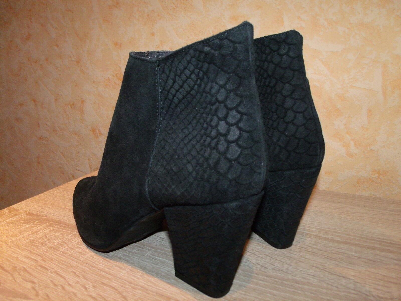 Feminin NEU spitze Studio W Stiefelette NEU Feminin Gr. 42 in schwarz & Nubuk Leder ansehen 091697