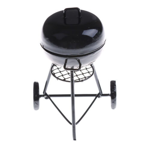 1:12 Dollhouse Miniature Black Grill Dollhouse Garden Outdoor Accessory PLV
