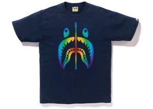 Xxl Bape Rainbow Shark Tee Ss18 Navy Ebay