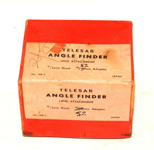 TELESAR ANGLE FINDER, LENS ATTACHEMENT, JAPAN NICE 52MM