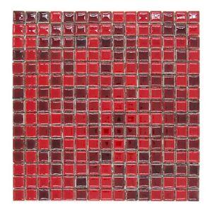 CERAMICA DI TREVISO mosaico da rivestimento 2x2 miscela ROSSO MIX ...