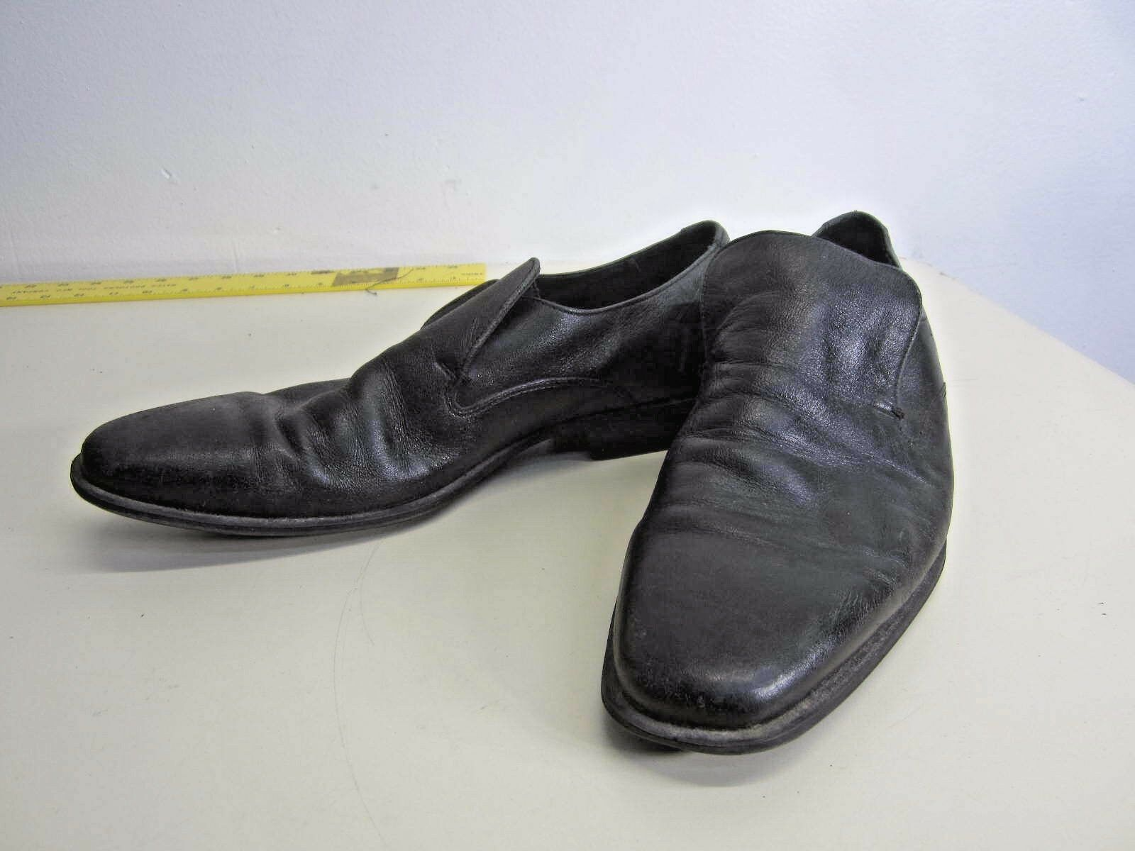 Cole Haan Loafers Slip On Dress shoes black leather rubber sole sz 9 M