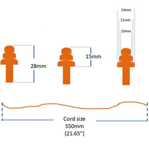20PCS Ear Plugs Soft Silicone Sleep Travel Anti Noise 33dB Reusable Earplugs US