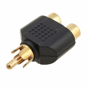 2-RCA-hembra-a-RCA-macho-adaptador-de-Audio