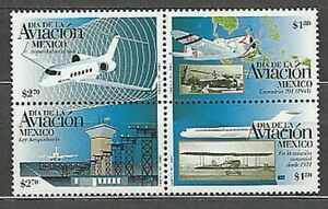 Mexico - Mail 1996 Yvert 1648/51 MNH Planes