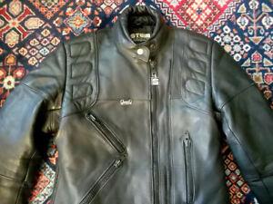 vintage-STEIN-Motorradjacke-Bikerjacke-leather-jacket-motorcycle-jacket-Gr-12
