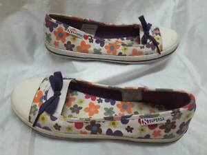 Ballerine Woman Floreale Shoes Superga Bianco Schuhe Scarpe 41 Donna Estive rqTwUr