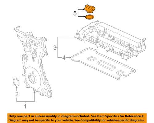 FORD OEM-Engine Oil Filler Cap F2GZ6766D