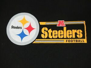 Nwot-NFL-Pittsburgh-Settlers-Calcio-Nero-2XL-T-Shirt-D219