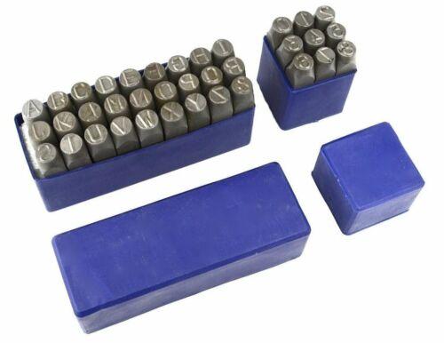 Métalliques En Acier A-Z Alphabet Lettre /& Numéro 0-9 Punch Mark stamps craft outil Tailles