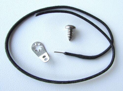 Guitar Cavity Shielding Harness w// Ground Lug with Screw /& Vintage Cloth Wire