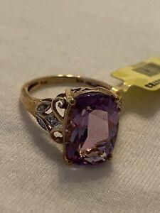 10k Gold Amethyst Ring Size 7