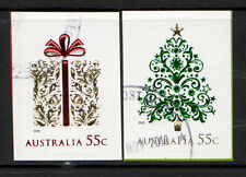 AUSTRALIA 2013 CHRISTMAS SELF ADHESIVE WITH EMBELLISHMENTS SET OF 2 FINE USED