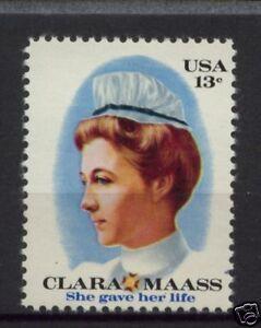 EE. UU. 1976 SG#1676 Clara Maass estampillada sin montar o nunca montada
