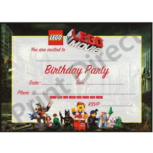 Detalles De 15 X Película Lego Batman Invitaciones Fiesta De Cumpleaños Invita A Con Sobres De 15 X Ver Título Original