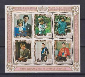 1981-Matrimonio-Reale-Charles-amp-Diana-Gomma-integra-non-linguellato-francobolli-FOGLIO-Penrhyn
