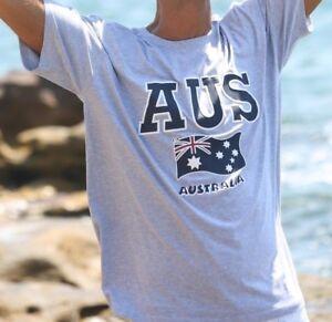 Unisex-Souvenir-T-shirt-Cotton-Australia-Short-Sleeve-Top-Tee-AUSSIE-Flag