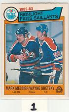 1983 83-84 O-Pee-Chee #23 Mark Messier/Wayne Gretzky HL NM Near Mint OPC