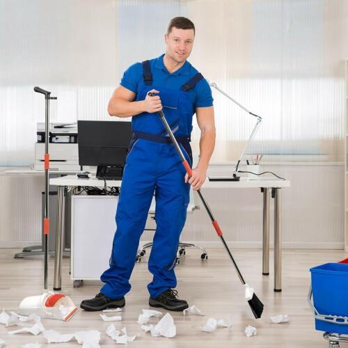 Self-Cleaning Broom Bristles Primica Broom and Dustpan Set